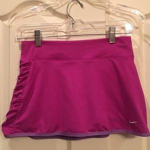 NIKE Pink Purple Tennis Skirt Ruching Size S EUC